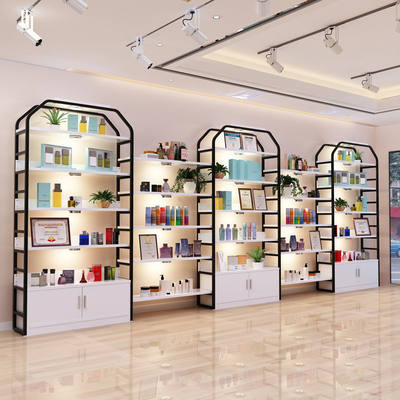 Supermarket Container Showcase Cosmetics Display Cabinet Product Rack Beauty Salon Barber Shoe Bag