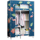 Simple cloth wardrobe single dormitory wardrobe steel pipe thick reinforced fabric small clothes cabinet simple modern economy