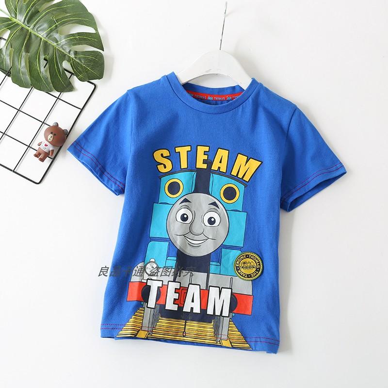 包邮儿童体恤纯棉托马斯短袖卡通半袖 汤玛士童装火车头服装衣服