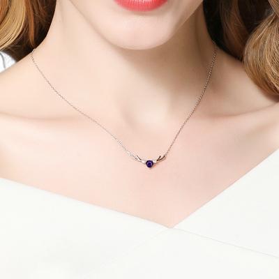 【艾西尼】S925银饰小鹿角锁骨链项链