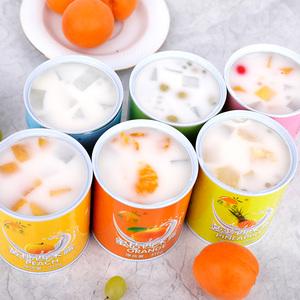 酸奶西米露黄桃水果罐头