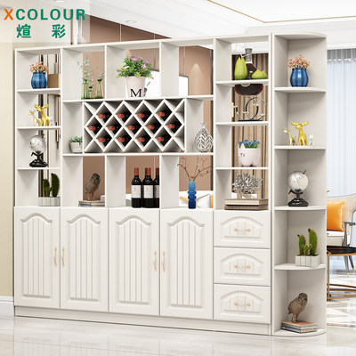 Wine cabinet screen partition modern room hallway shoe cabinet decorative racks simple double-sided entrance living room entrance cabinet