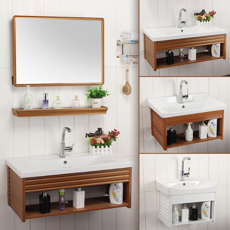 Wall Mounted Wash Basin Combination Cabinet Small Apartment Makeup