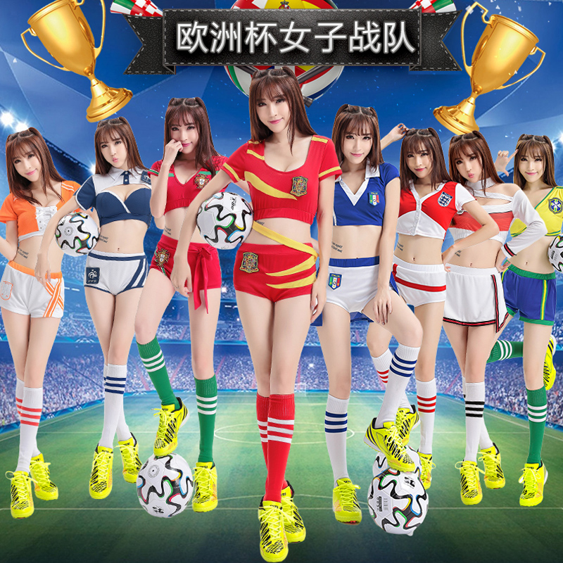 Football baby clothing women s suit sexy nightclub adult costumes new  cheerleading 2018 World Cup jersey 7686b0242e