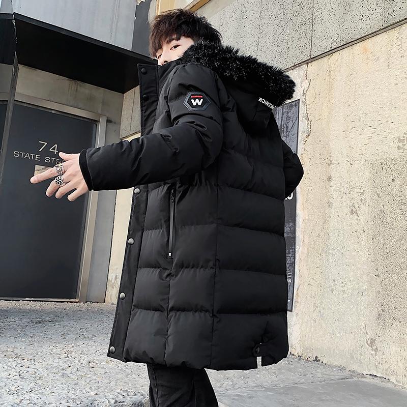 棉衣男冬季中长款羽绒棉服冬装宽松加肥加大码潮胖子6XL男士外套