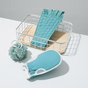 【3件装】男女洗澡巾双面搓澡巾手套
