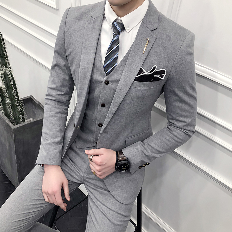 f569be5aec9b3d 2019 groom dress men's suits suit slim Korean version of the best man unity  wedding suit casual suit male jacket