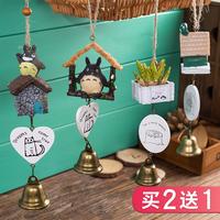 Творческий японский стиль Тоторо колокольчик милая девушка спальня Xiaoqing новый Девушка висят украшения в Японии дверь Декоративная подвеска в виде колокольчика