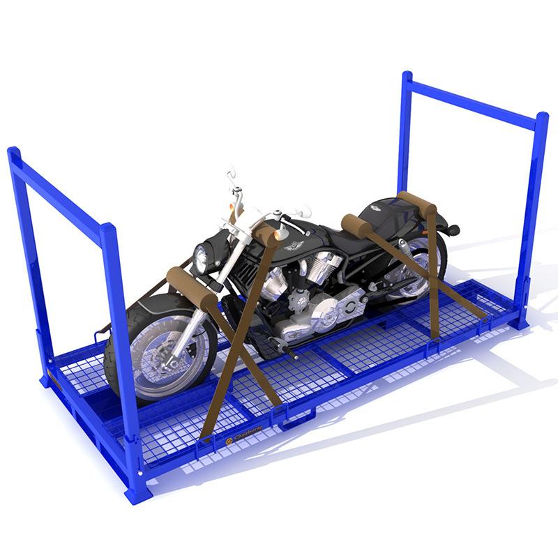 摩托车驻车巧固架可折叠摩托周转运输车架大蒜冷库布匹轮胎架货架