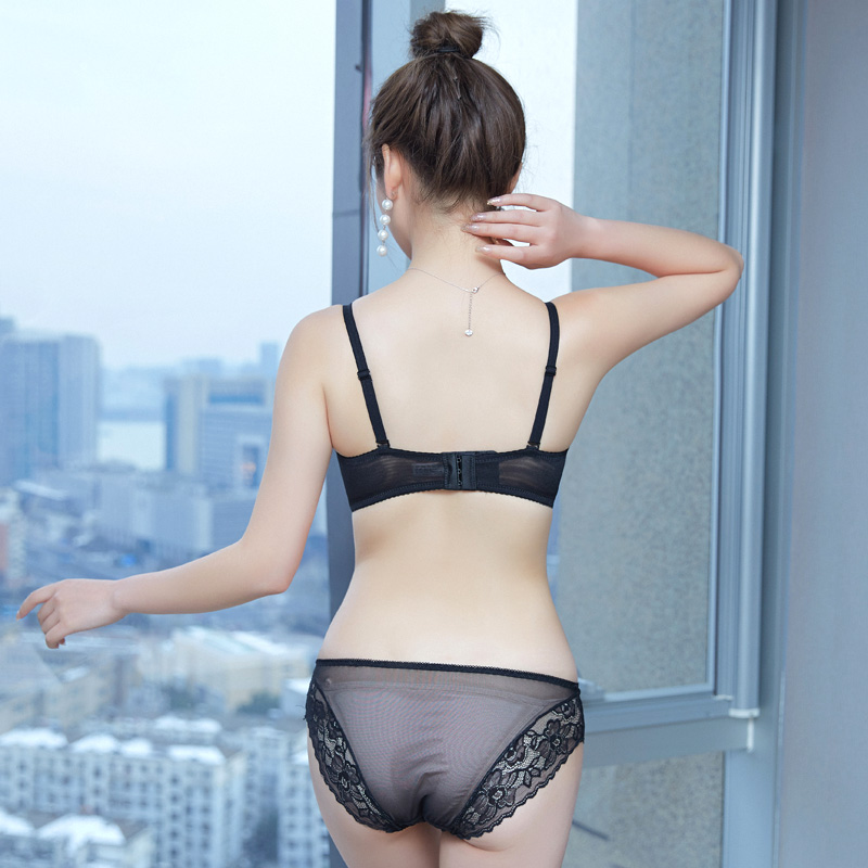 Lace No Rims Bra Underwear Womens Suits Gather Sex Confused Small Chest Girls Sexy Ladies Bras Receive Milk