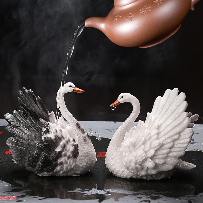 Чай портить обесцвечивать храбрые войска лебедь чайный поднос творческий бутик монтаж может поддержка аксессуары чай играть чай тайвань чайная церемония чайный сервиз украшение