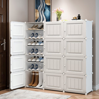 Simple shoe cabinet, large capacity, multi-layer dust-proof and economical storage artifact
