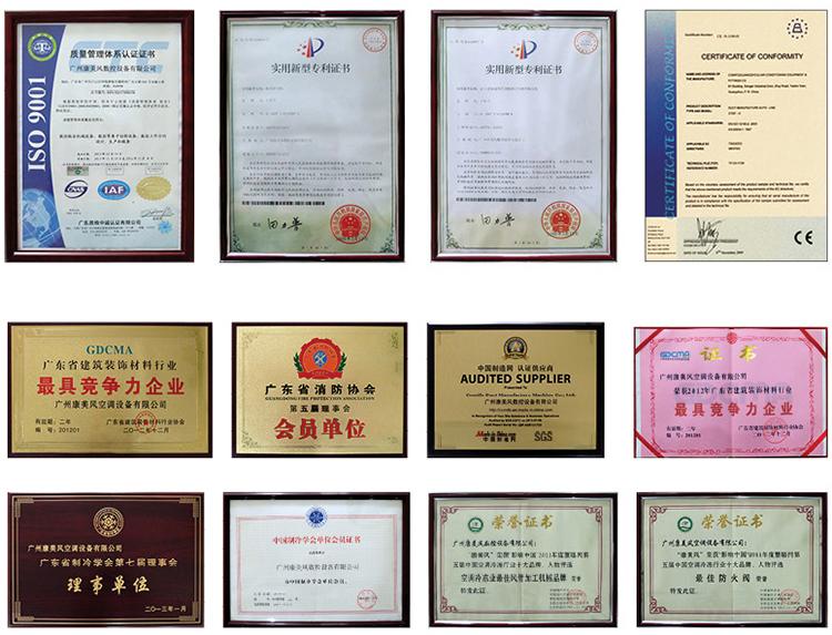 广州康美风获得的荣誉证书