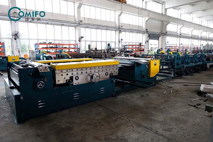 全自动风管生产线六线车间组装过程