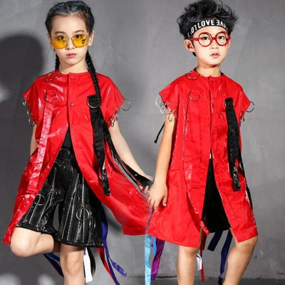 Girls Walking Show Clothes Modern Fashion Models Individual Children Hip-hop Suit Boys Hip-hop Show Clothes