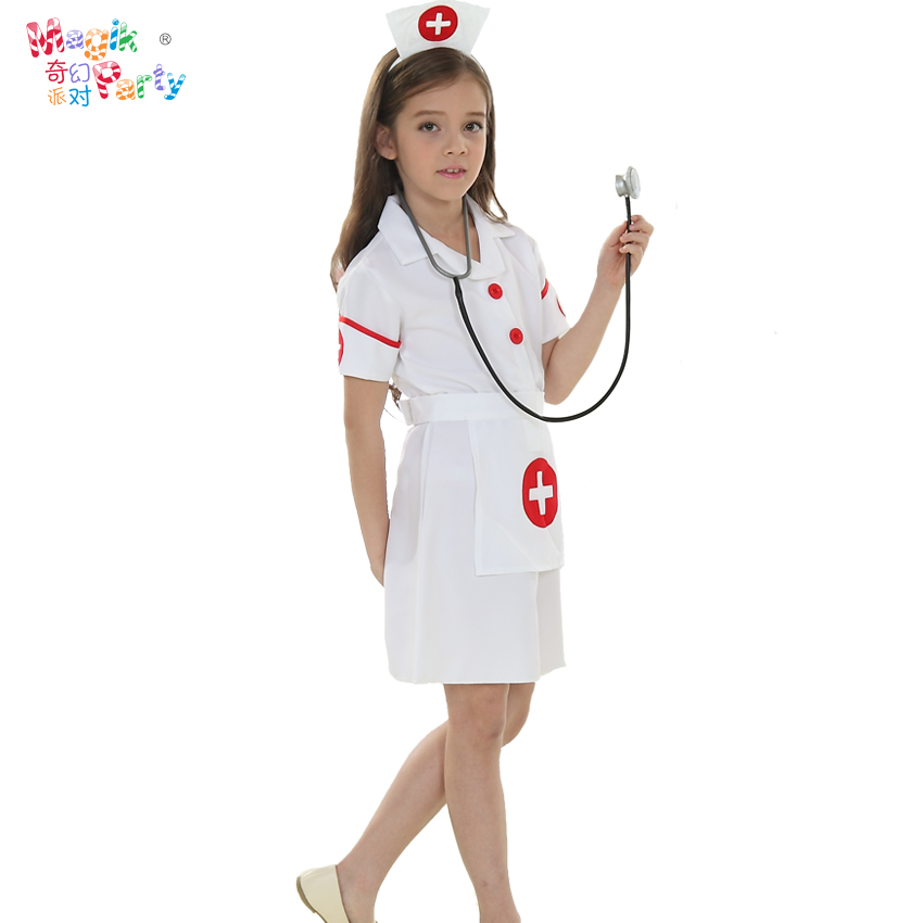 5fac5fd577254 Children's day Cosplay children's performance costume girls school  performance dress nurse surgeon outfit