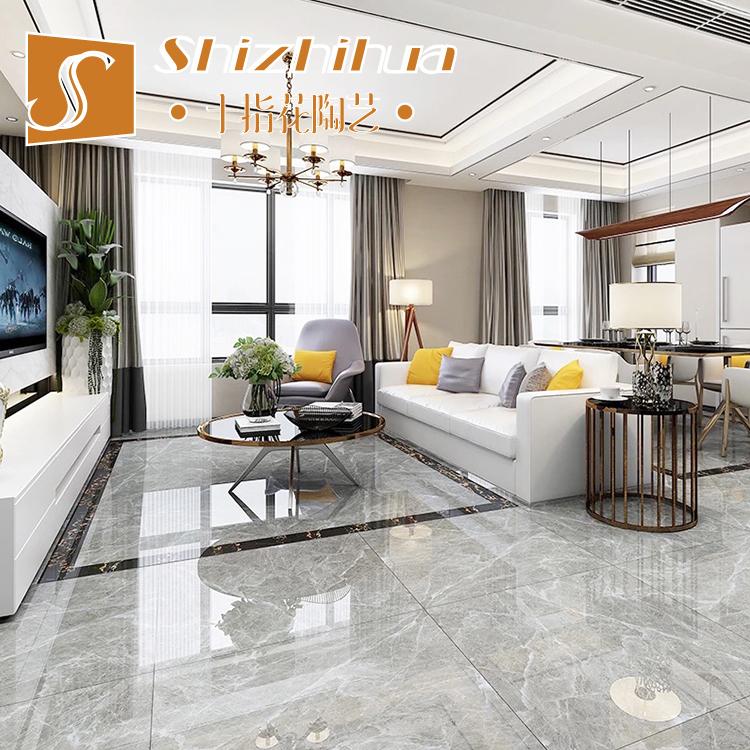 Плитка для гостиной 800x800 полностью Полированная глазурь серый Деревянно принт Алмазная напольная плитка Фошань облачный серый камень износостойкий панель кирпич