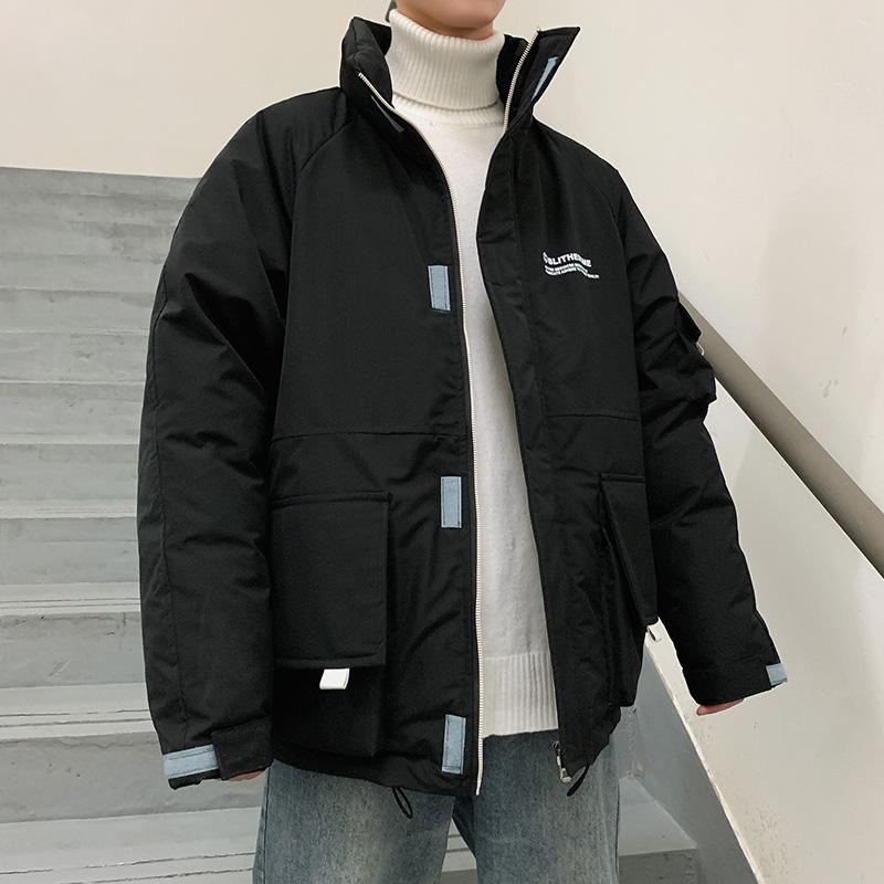 棉衣男短款2019冬季新款連帽工裝棉服韓版學生寬松棉襖外套潮