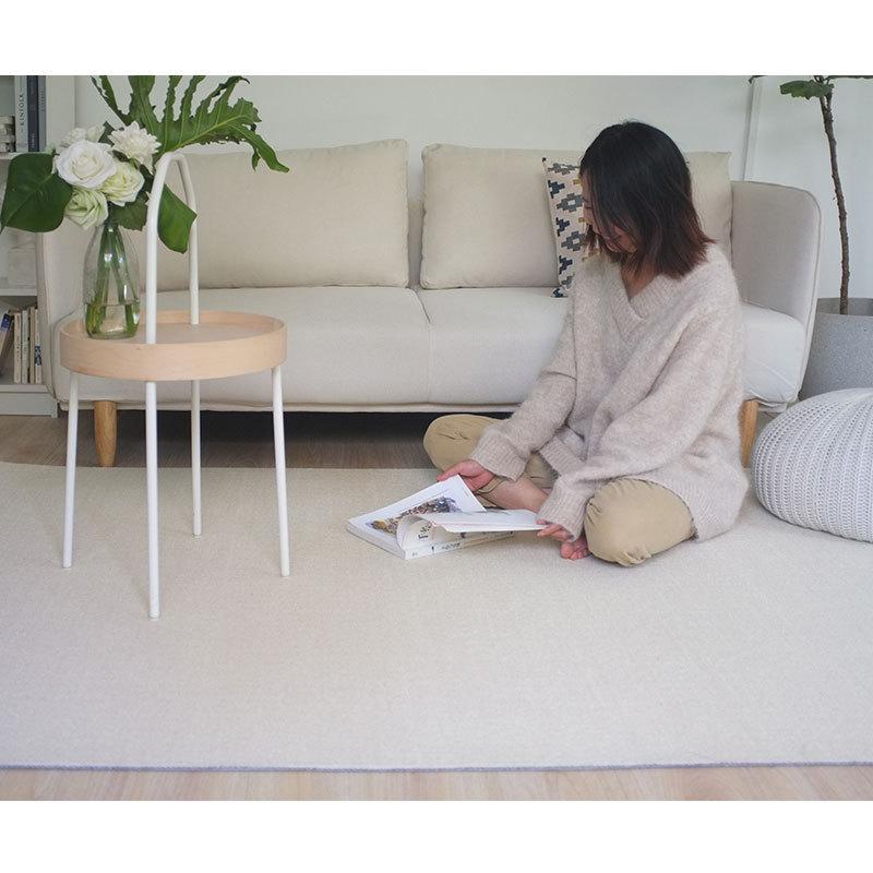 宅曰 地毯客厅现代简约沙发茶几北欧日式纯色房间用卧室床边水洗