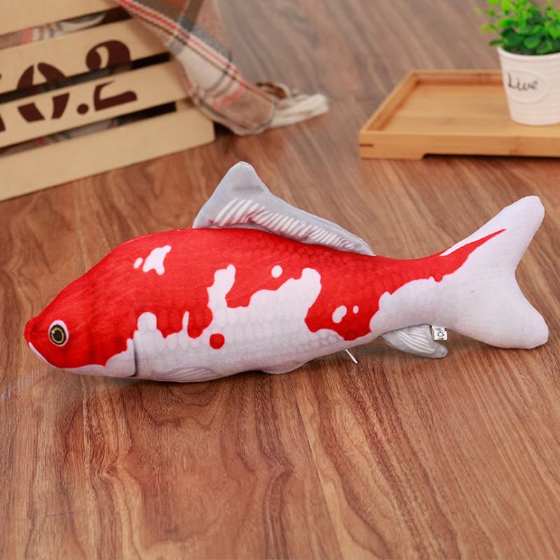 猫薄荷鱼猫咪玩具逗猫棒鲫鱼抱枕五折促销