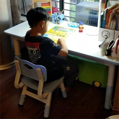 Kindergarten table and chair children's table chair suit home baby learning table toy game table learning desk