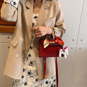 【千人验货】新款凯莉包网红鳄鱼ins包