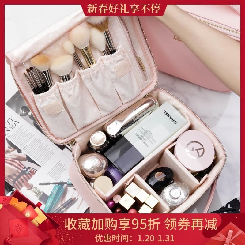 化妆包ins风超火女大容量大牌赠品便携网红防水简约专柜v大牌品包
