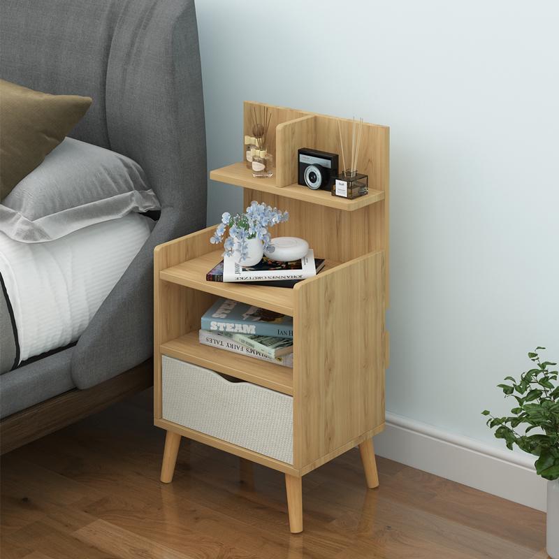 简约现代床头柜置物架北欧卧室小型收纳储物简易经济型床边小柜子