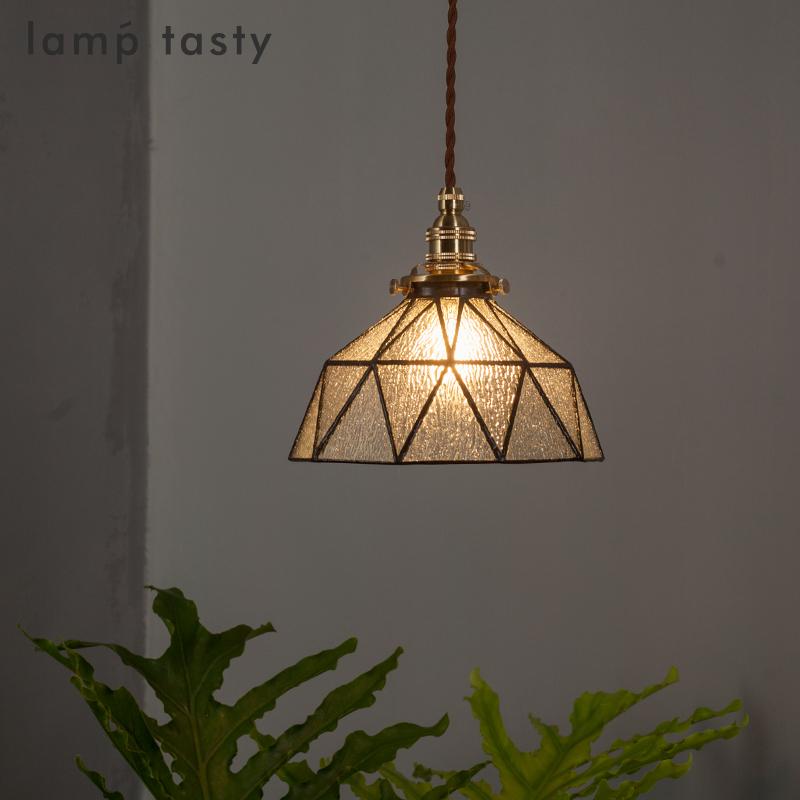 日式北欧现代复古手作玻璃吊灯 玄关阳台过道餐厅床头 民宿小吊灯