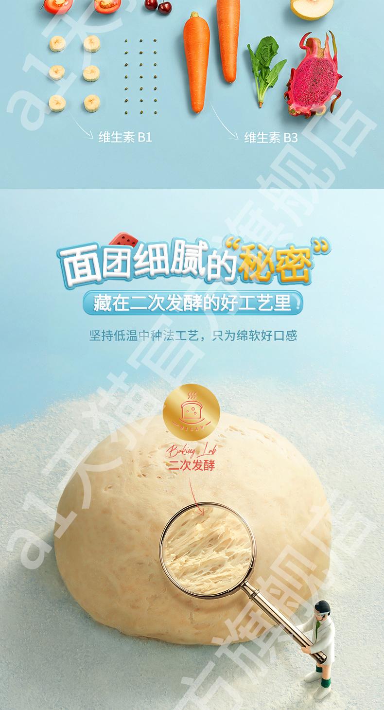 2020年国际美味大奖  A1 爱逸 西瓜吐司面包 480g 图4