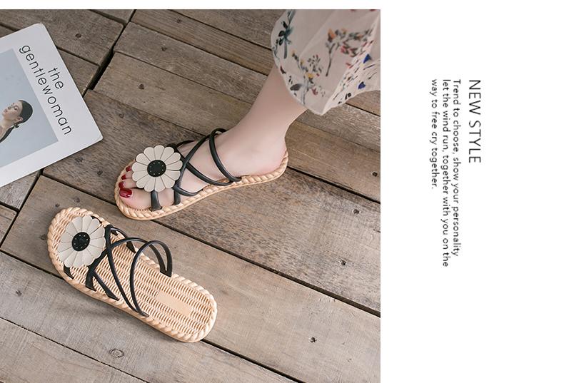 夏季新款半拖网红时尚潮沙滩外穿凉拖鞋女外出可湿水详细照片