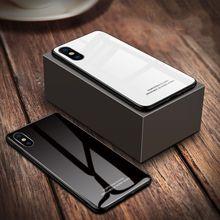 苹果钢化玻璃手机壳黑白色