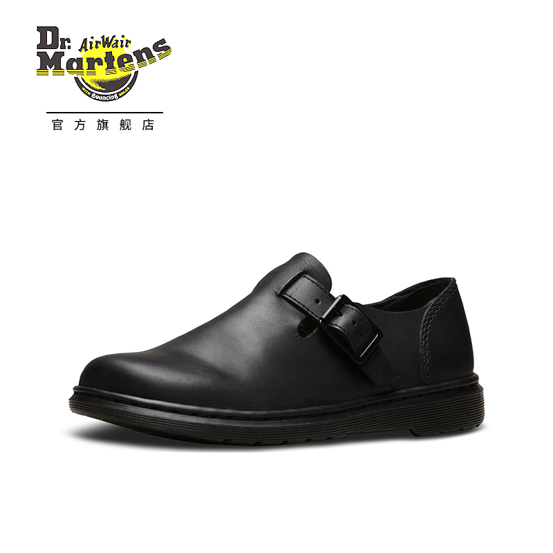 e6d935c524c Dr Martens Martin Dr. Patricia III buckle Moke shoes men and women with the  same paragraph casual flat shoes