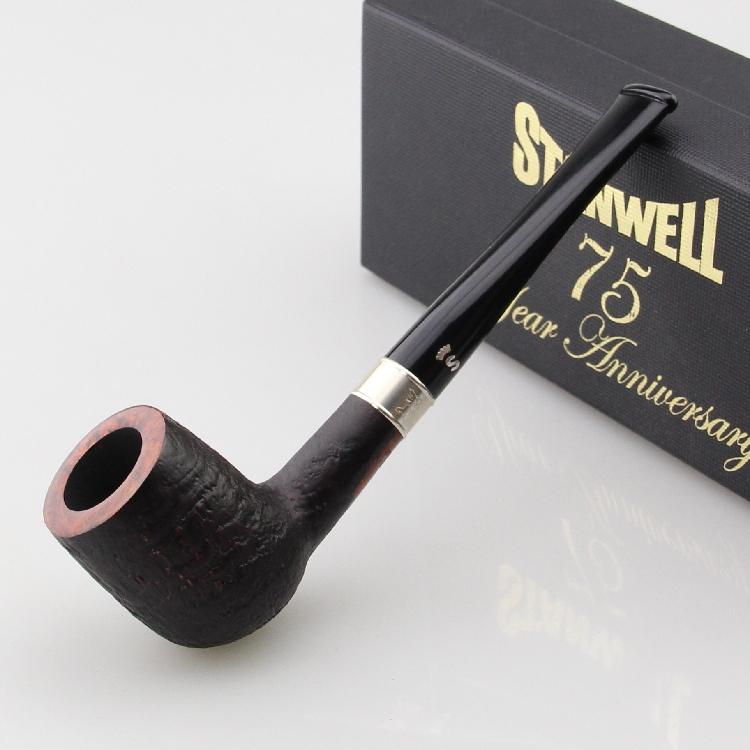 进口丹麦stanwell史丹威石楠木烟斗75周年限量斗3mm纯银29