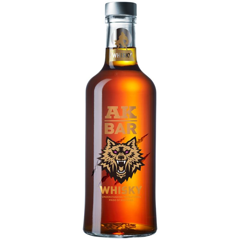 AK47夜店洋酒akbar威士忌whisky高度烈酒40度酒吧鸡尾酒基阿卡47_领取40元天猫超市优惠券