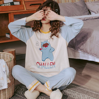Pajamas cotton long sleeve autumn woman doll collar sweet princess wind summer thin models home clothing spring autumn set