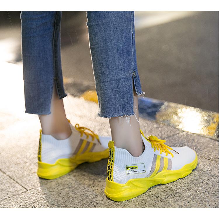 超火鞋春季新款女运动鞋透气飞织百搭休閒软底轻便跑步鞋详细照片