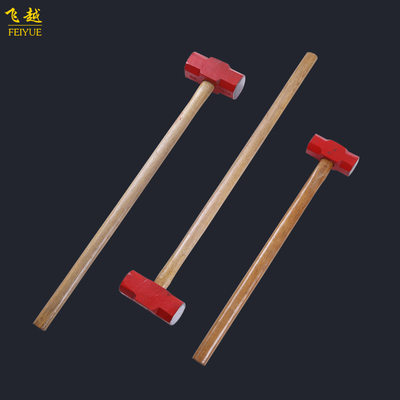 Octagonal sledgehammer with wooden handle Forged carbon steel manual hardware hammer Multifunctional sledgehammer for construction and installation