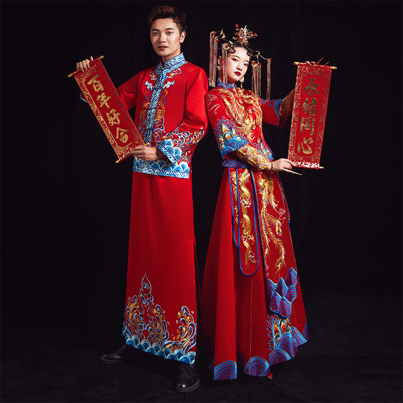 Showdress Bride 2020 New Show Dress Couple Chinese Wedding Dress