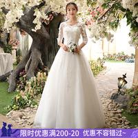 Легкое свадебное платье в корейском стиле 2019 новая коллекция новый Отделение Супер Сказочных Мечтаний Niangsen один тонкий свадебное Маленький мужчина в платье