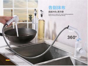 出口德国 无铅厨房水龙头双出水全铜抽拉式水槽洗菜盆龙头冷热水