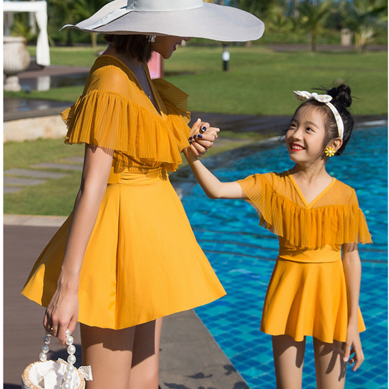 New parent-child swimsuit mother and daughter conservative