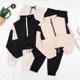 2020 new fashionable women's suit high waisted ins show thin two piece suit age reducing sports leisure pants spring