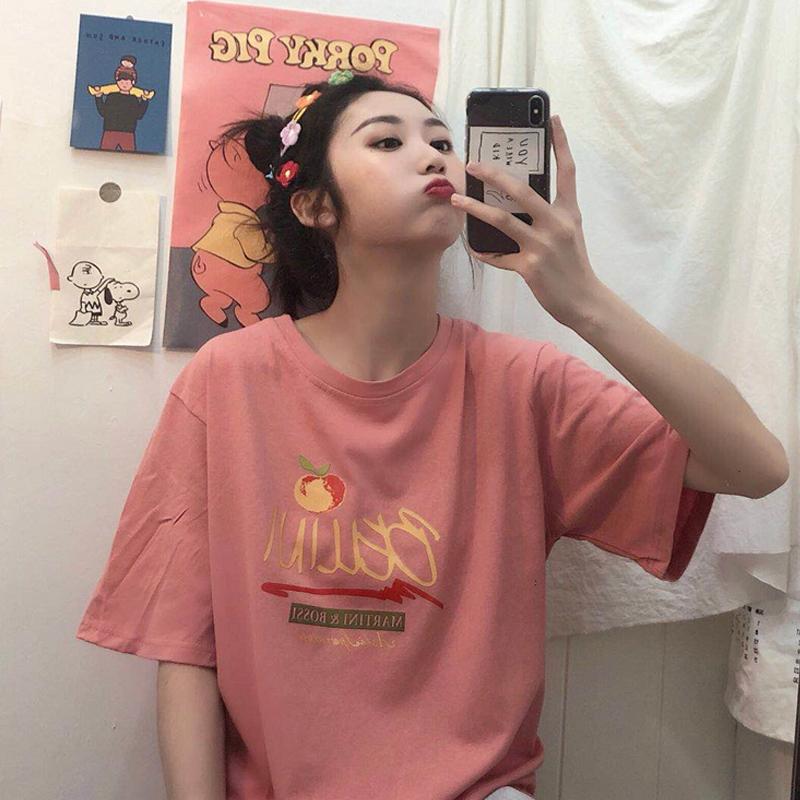 女士t恤上衣2019新款夏季网红韩版女装半袖宽松百搭ins短袖学生潮