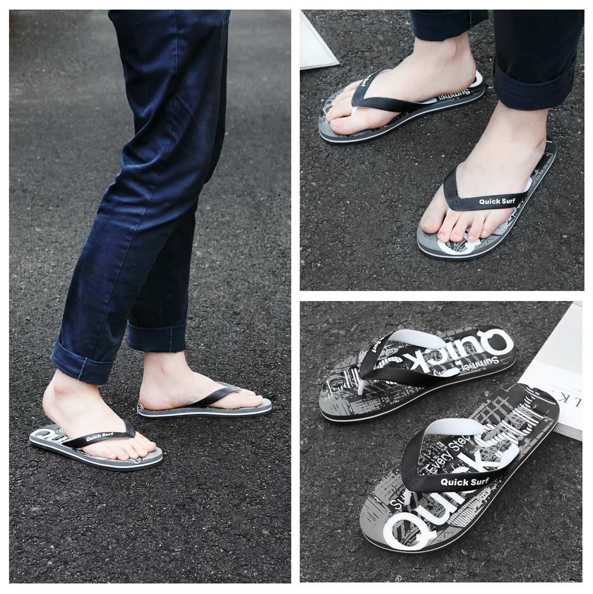 086106f521a9 2019 new flip-flops men s summer fashion wear tide outdoor personality feet  non-slip beach sandals and slippers men