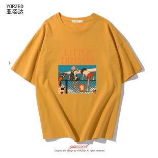 促销2019新款情侣宽松短袖T恤