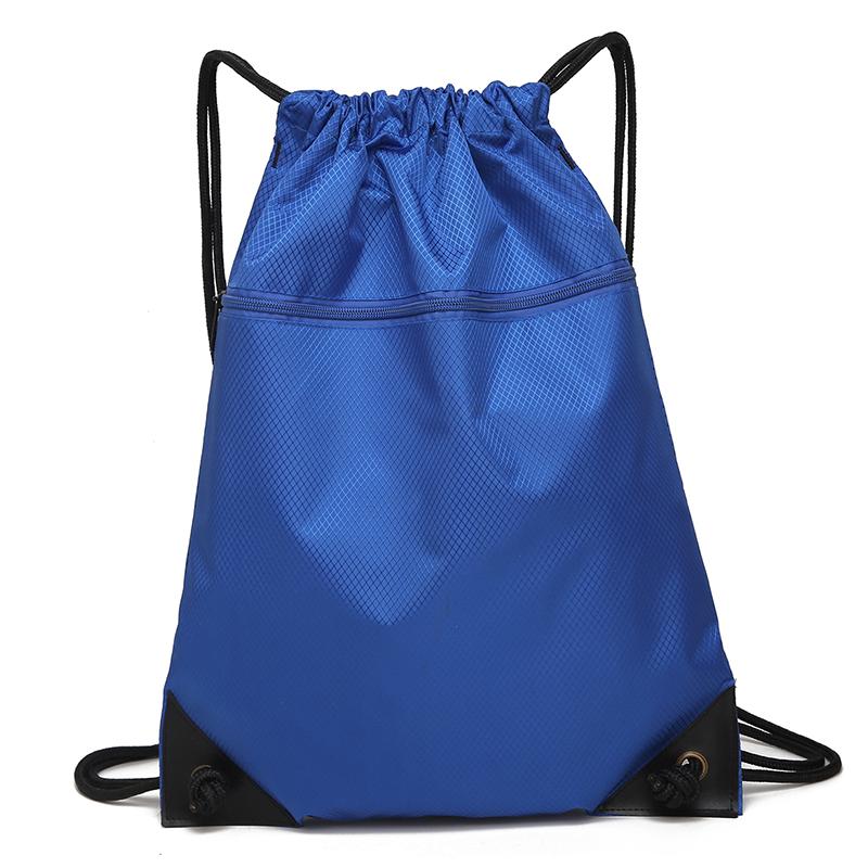 定制LOGO简易抽绳束口袋双肩背包防水运动包培训训练包足球篮球包