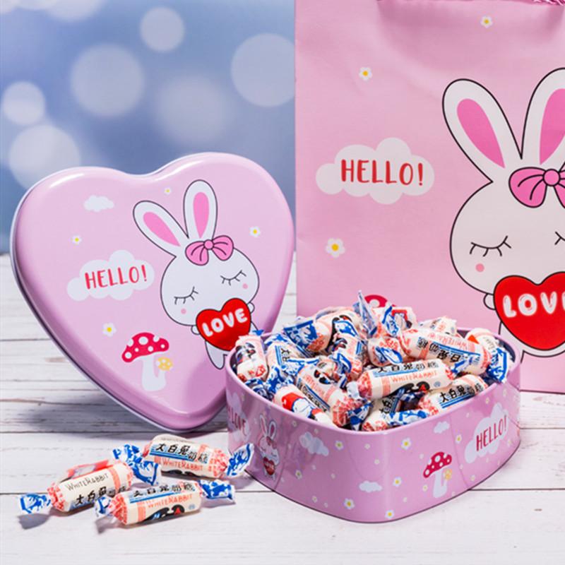 上海特产大白兔奶糖500g送礼盒创意糖果礼盒儿童节礼物糖果喜糖
