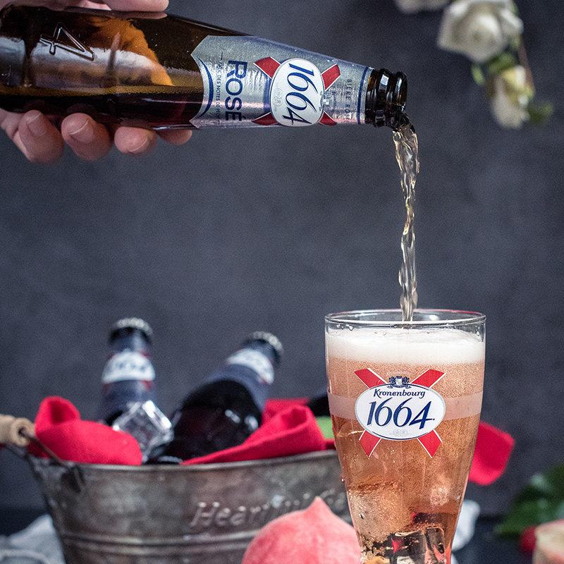 法国进口 Kronenbourg 克伦堡凯旋 1664 玫瑰味水果啤酒 250ml*6瓶 天猫优惠券折后¥39包邮(¥69-30)