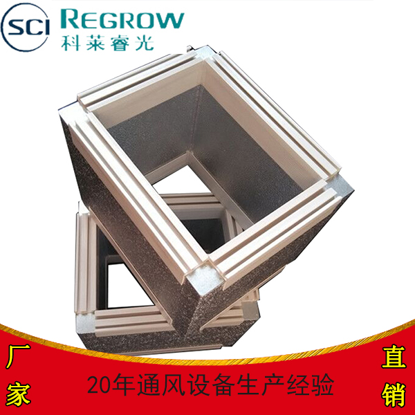 彩钢双面复合彩钢通风管道酚醛彩钢夹泡沫保温材料风管单中央空调